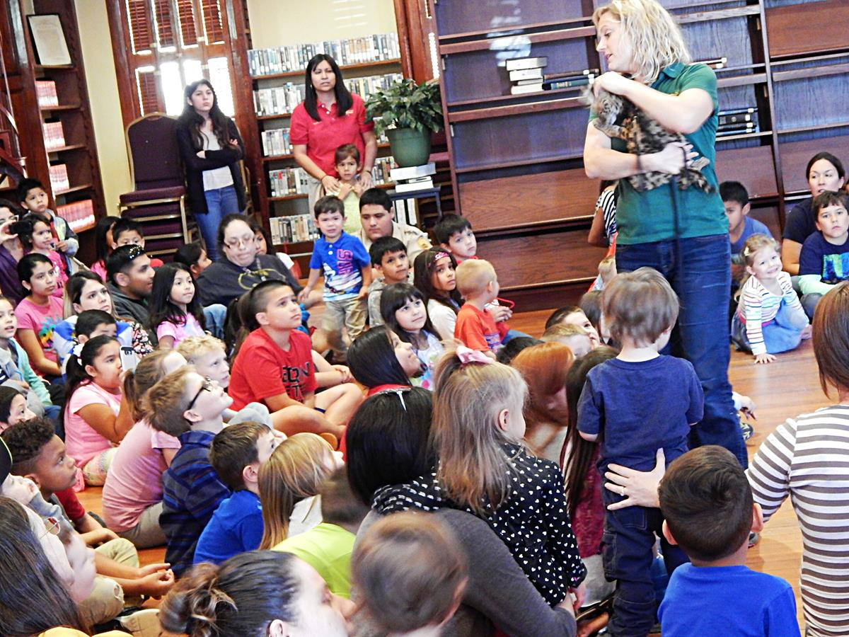 Children's Spring Break event learning about Kangaroos.,
