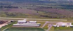 Arial view of the Lockhart Municipal Airport